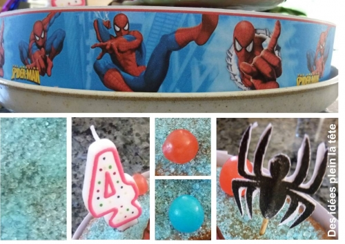 gateau, spiderman